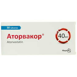 Аторвакор табл. п/плен. обол. 40мг №30