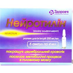 Нейротилин р-р д/ин. 250мг/мл амп. 4мл №5