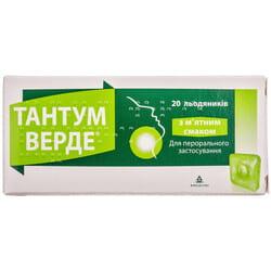 Тантум Верде леден. со вкусом мяты 3мг №20