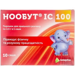 Нообут IC 100 пор. д/орал. р-ра 100 мг/дозу саше 2,5г №10
