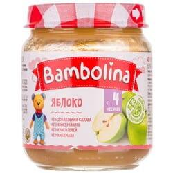 Пюре фруктовое детское BAMBOLINA (Бамболина) Яблоко с 4-ти месяцев 100 г