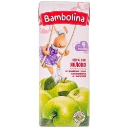 Сок детский BAMBOLINA (Бамболина) яблочный с 4-х месяцев 200 мл