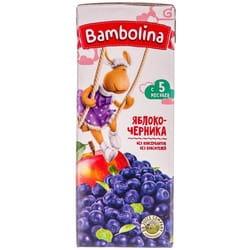Нектар детский BAMBOLINA (Бамболина) яблоко и черника с 5-ти месяцев 200 мл
