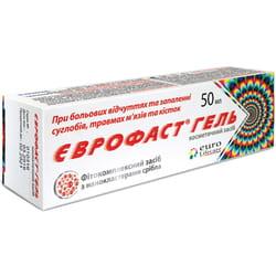 Гель для суставов Еврофаст против боли и воспаления туба 50 мл