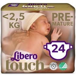 Подгузники для детей LIBERO (Либеро) Touch Premature 0 с весом до 2,5 кг 24 шт