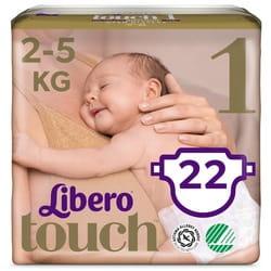 Подгузники для детей LIBERO (Либеро) Touch 1 с весом от 2 до 5 кг 22 шт