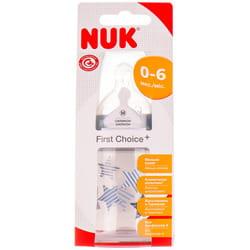 Бутылочка для кормления NUK (Нук) First Choice Plus Первый выбор пластиковая 150 мл с силиконовой соской размер 1