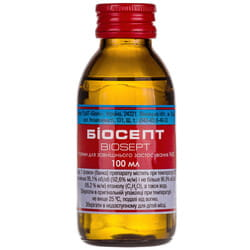 Спирт этиловый Биосепт р-р д/наруж. примен. 96% фл. 100мл