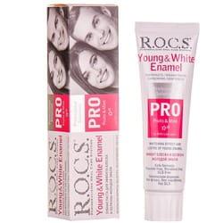 Зубная паста R.O.C.S. (Рокс) Pro Young & White Enamel для эффекта блеска и белизны молодой эмали 135 г