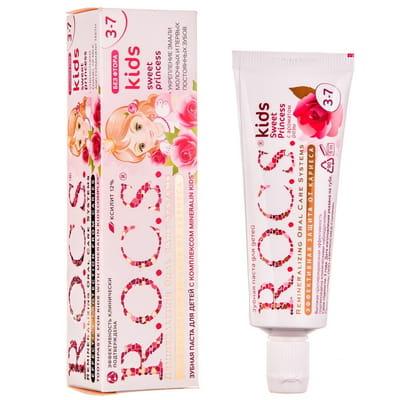 Зубная паста R.O.C.S. (Рокс) Kids детская Sweet Princess с ароматом розы 45 г