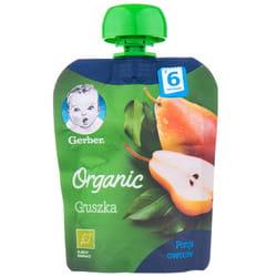 Пюре фруктовое детское NESTLE GERBER (Нестле Гербер) Organic (Органическое) Груша с 6-ти месяцев мягкая упаковка 90 г