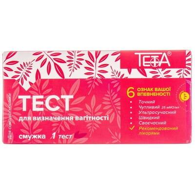 Тест- полоска для определения беременности Teta (Тета) (25 мМЕ/мл) 1 шт