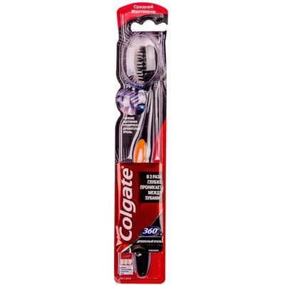Зубная щетка COLGATE (Колгейт) 360 Древесный уголь средней жесткости 1 шт