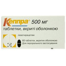 Кеппра табл. п/о 500мг №60