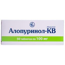 Аллопуринол-КВ табл. 100мг №50