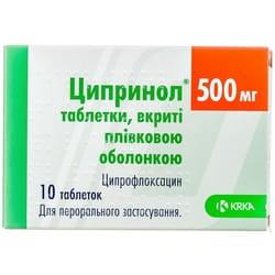 Ципринол табл. п/о 500мг №10