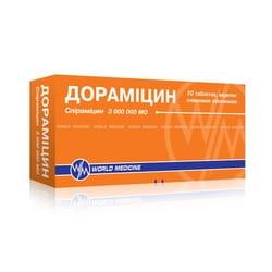 Дорамицин табл. п/о 3млн МЕ №10