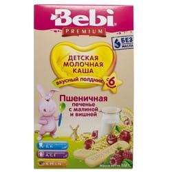 Каша молочная детская KOLINSKA BEBI (Колинска беби) Премиум для полдника Пшеничная Печенье с малиной и вишней с 6-ти месяцев 200 г