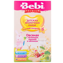 Каша молочная детская KOLINSKA BEBI (Колинска беби) Премиум для полдника Овсяная с печеньем, вишней и яблоком с 6-ти месяцев 200 г