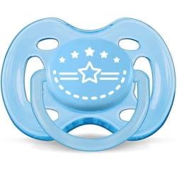 Пустышка силиконовая ортодонтическая AVENT (Авент) SCF 172/01 для мальчика от 0 до 6 месяцев 2 шт