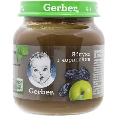Пюре фруктовое детское NESTLE GERBER (Нестле Гербер) Яблоко и чернослив 130 г