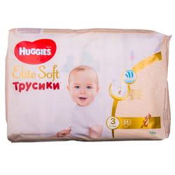 Подгузники-трусики для детей HUGGIES (Хаггис) Elite Soft (Элит софт) 3 от 6 до 11 кг 54 шт