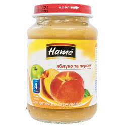 Пюре фруктовое детское HAME (Хаме) Персик 190 г