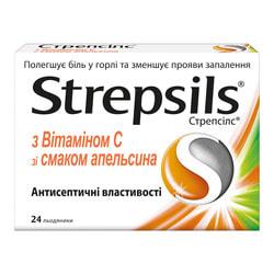Стрепсилс витамин С леденцы №24