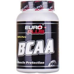Аминокомплекс для спортсменов EURO PLUS (Евро Плюс) BCAA (Всаа) порошок банка 300 г