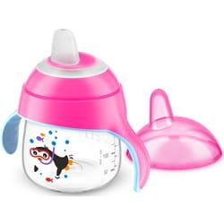 Чашка-непроливайка AVENT (Авент) артикул SCF 751/07 с мягким носиком и ручками для девочек от 6 месяцев 200 мл