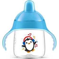 Чашка-непроливайка AVENT (Авент) артикул SCF 753/05 с твердым носиком и ручками для мальчиков от 12 месяцев 260 мл