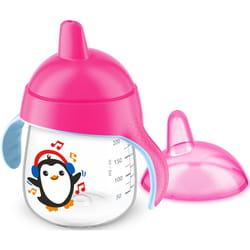 Чашка-непроливайка AVENT (Авент) артикул SCF 753/07 с твердым носиком и ручками для девочек от 12 месяцев 260 мл