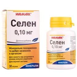 Селен таблетки 0,1 мг для защиты от вредного воздействия свободных радикалов и для иммунной системы флакон 30 шт