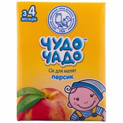 Сок детский ЧУДО-ЧАДО персиковый с мякотью, сахаром и витамин С с 4 месяцев 200 мл