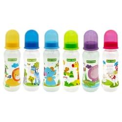 Бутылочка для кормления детская BABY TEAM (Беби Тим) артикул 1121 с силиконовой соской с 0 месяцев 250 мл