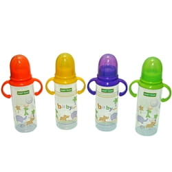 Бутылочка для кормления детская BABY TEAM (Беби Тим) артикул 1411 с силиконовой соской и ручками с 0 месяцев 250 мл