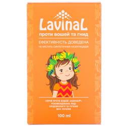 Спрей от вшей и гнид лечебно-профилактический Лавинал флакон 100 мл