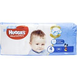 Подгузники для детей HUGGIES (Хаггис) Ultra Comfort (Ультра комфорт) 4 для мальчиков 50 шт