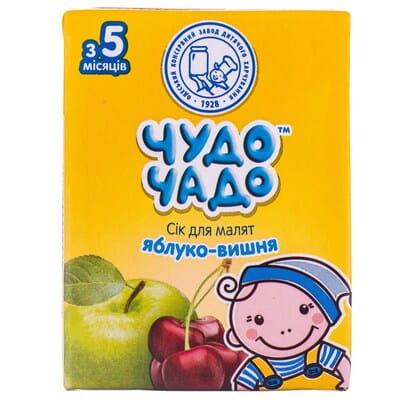 Сок детский ЧУДО-ЧАДО яблочно-вишневый с 5 месяцев 200 мл
