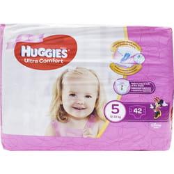 Подгузники для детей HUGGIES (Хаггис) Ultra Comfort (Ультра комфорт) 5 для девочек от 12 до 22 кг 42 шт