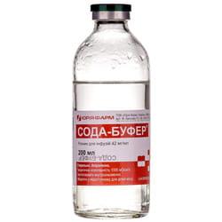 Сода-буфер р-р д/инф. 42мг/мл бут. 200мл