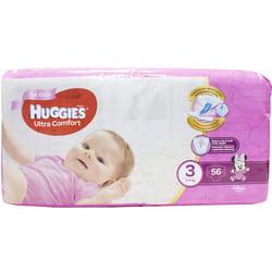 Подгузники для детей HUGGIES (Хаггис) Ultra Comfort (Ультра комфорт) 3 для девочек от 5 до 9 кг 56 шт