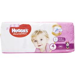 Подгузники для детей HUGGIES (Хаггис) Ultra Comfort (Ультра комфорт) 4 для девочек 50 шт