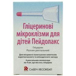 Пейдолакс микроклизма д/детей глиц. р-р ректал. 3,28 мл/4 мл апплик. №4