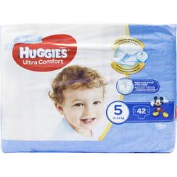 Подгузники для детей HUGGIES (Хаггис) Ultra Comfort Jumbo (Ультра комфорт) 5 для мальчиков от 12 до 22 кг 42 шт