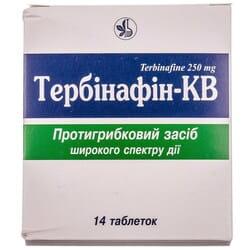 Тербинафин-КВ табл. 250мг №14