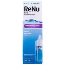 Раствор для контактных линз многоцелевой Renu MPS (РеНю) для чувствительных глаз флакон 360 мл