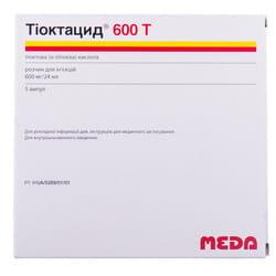 Тиоктацид-600Т р-р д/ин. 600мг амп. 24мл №5
