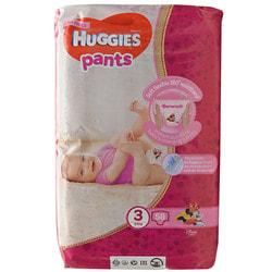 Подгузники-трусики для детей HUGGIES (Хаггис) Pants (Пентс) 3 для девочек от 6 до 11 кг 58 шт