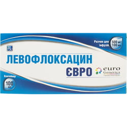 Левофлоксацин Евро р-р д/инф. 500мг/100мл конт. 100мл